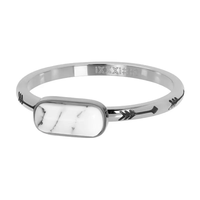 IXXXI JEWELRY RINGEN iXXXi Jewelry Vulring Festival White 2mm Zilverkleurig