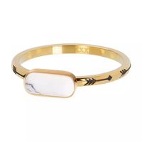 IXXXI JEWELRY RINGEN iXXXi Jewelry Vulring Festival White 2mm Goudkleurig