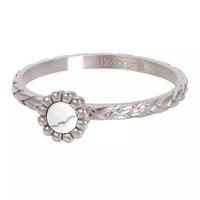 IXXXI JEWELRY RINGEN iXXXi Jewelry Vulring Inspired White  2mm Zilverkleurig