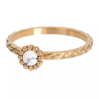 IXXXI JEWELRY RINGEN iXXXi Jewelry Vulring Inspired White  2mm Goudkleurig