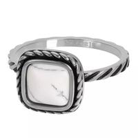 IXXXI JEWELRY RINGEN iXXXi Jewelry Vulring Summer White  2mm Zilverkleurig