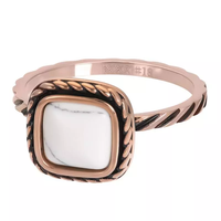 IXXXI JEWELRY RINGEN iXXXi Jewelry Vulring Summer White  2mm Rosegoudkleurig