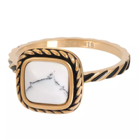 IXXXI JEWELRY RINGEN iXXXi Jewelry Vulring Summer White  2mm Goudkleurig
