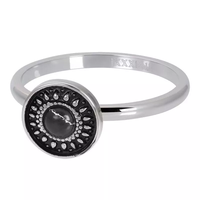 IXXXI JEWELRY RINGEN iXXXi Jewelry Vulring Vintage  Black  2mm Zilverkleurig