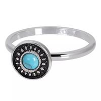IXXXI JEWELRY RINGEN iXXXi Jewelry Vulring Vintage Turquoise  2mm Zilverkleurig