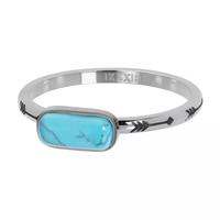 IXXXI JEWELRY RINGEN iXXXi Jewelry Vulring Festival Turquoise 2mm Zilverkleurig