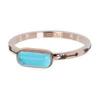 IXXXI JEWELRY RINGEN iXXXi Jewelry Vulring Festival Turquoise 2mm Rosegoudkleurig