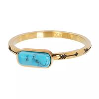 IXXXI JEWELRY RINGEN iXXXi Jewelry Vulring Festival Turquoise 2mm Goudkleurig