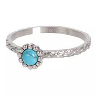 IXXXI JEWELRY RINGEN iXXXi Jewelry Vulring Inspired Turquoise 2mm Zilverkleurig