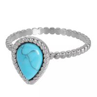 IXXXI JEWELRY RINGEN iXXXi Jewelry Vulring Magic Turquoise  2mm Zilverkleurig