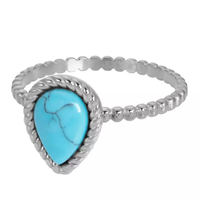 IXXXI JEWELRY RINGEN iXXXi Jewelry Washer Magic Turquoise 2mm Silver colored