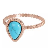 IXXXI JEWELRY RINGEN iXXXi Jewelry Vulring Magic Turquoise  2mm Rosegoudkleurig