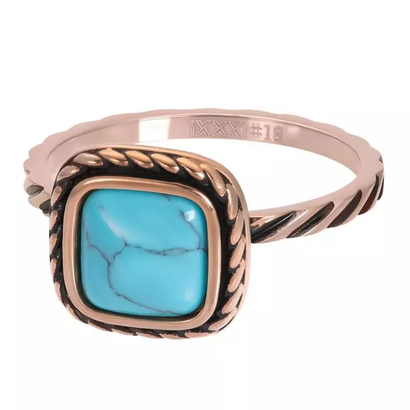 IXXXI JEWELRY RINGEN iXXXi Jewelry Washer Summer Turquoise 2mm Rose gold colored