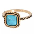 IXXXI JEWELRY RINGEN iXXXi Jewelry Vulring Summer Turquoise  2mm Goudkleurig