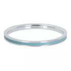 IXXXI JEWELRY RINGEN iXXXi Jewelry Washer Line Türkis 2mm Silberfarben