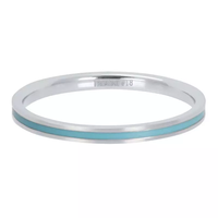 IXXXI JEWELRY RINGEN iXXXi Jewelry Washer Line Turquoise 2mm Silver colored