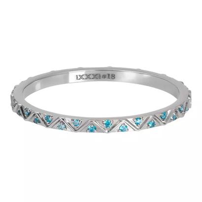 IXXXI JEWELRY RINGEN iXXXi Jewelry Washer Bohemian Aqua 2mm Silver colored