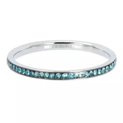 IXXXI JEWELRY RINGEN iXXXi Washer 0.2 cm Narrow Zirconia Bohemian Aqua Silver