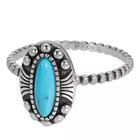 IXXXI JEWELRY RINGEN iXXXi Jewelry Vulring Indian Turquoise  2mm Zilverkleurig