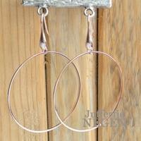 Earrings 45mm Rose Gold