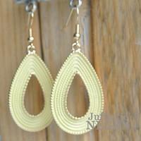 Drop Earrings 55mm Goudgeel