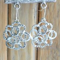 Circles silver earrings 25x38mm
