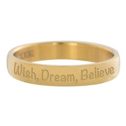 IXXXI JEWELRY RINGEN iXXXi Washer 0,4 cm Merk, Träumen Sie, glauben goldenen Edelstaal