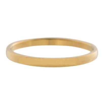 IXXXI JEWELRY RINGEN iXXXi Vulring 0.2 cm Staal Shiny Goudkleurig Smal