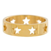 IXXXI JEWELRY RINGEN iXXXi Washer Open Gold Stars