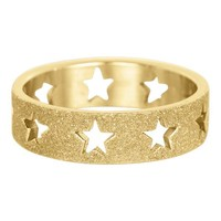 IXXXI JEWELRY RINGEN iXXXi Washer Open Gold Stars Sandblasted