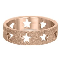 IXXXI JEWELRY RINGEN iXXXi Washer Open Stars Sandblasted Rose