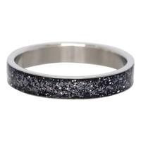 IXXXI JEWELRY RINGEN iXXXi Vulring Glitter Black Antraciet