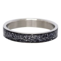 IXXXI JEWELRY RINGEN iXXXi Washer Glitter Black Anthracite