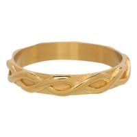 IXXXI JEWELRY RINGEN iXXXi Jewelry Vulring 0.4 cm Staal Shiny Braided Gold