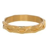 IXXXI JEWELRY RINGEN iXXXi Jewelry Washer 0.4 cm Steel Braided Shiny Gold