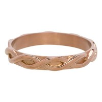 IXXXI JEWELRY RINGEN iXXXi Jewelry Washer 0.4 cm Shiny Steel Braided Rose