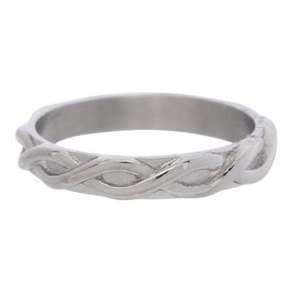 IXXXI JEWELRY RINGEN iXXXi Jewelry Vulring 0.4 cm Staal Shiny Braided Silver