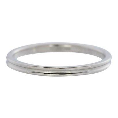 IXXXI JEWELRY RINGEN iXXXi Jewelry Vulring 0.2 cm Staal Shiny Smal Ribbel Silver