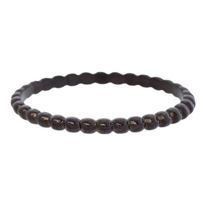 IXXXI JEWELRY RINGEN iXXXi Jewelry Vulring 0.2 cm Staal Bolletjes Black