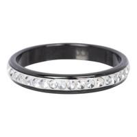 IXXXI JEWELRY RINGEN iXXXi Jewelry Washer 0.4 cm with crystal Zirconia Ceramics Black
