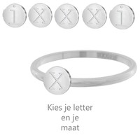 IXXXI JEWELRY RINGEN iXXXi Jewelry Vulring 0.2 cm Staal Alfabet Silver