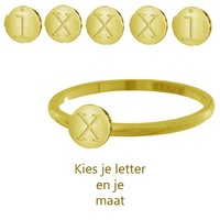 IXXXI JEWELRY RINGEN iXXXi Schmuck Washer 0,2 cm Stahl Alphabet Gold-