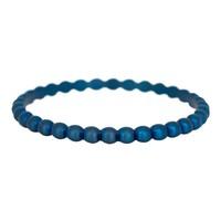 IXXXI JEWELRY RINGEN iXXXi Jewelry Vulring 0.2 cm Staal Bolletjes Blauw