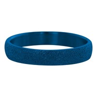 IXXXI JEWELRY RINGEN iXXXi Jewelry Vulring 0.4 cm Staal Sandblased Blue