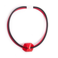 CUBE COLLECTION CUBE KETTING Rood Zwart met 1 Cube