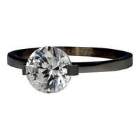 IXXXI JEWELRY RINGEN iXXXi Jewelry Washer 0.2 cm Glamour Stone Black