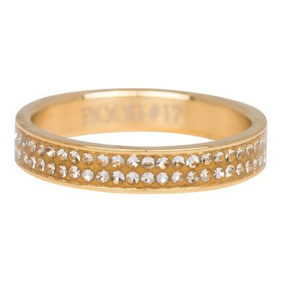 IXXXI JEWELRY RINGEN iXXXi Jewelry Fountain 0.4 cm Double Zirconia Gold