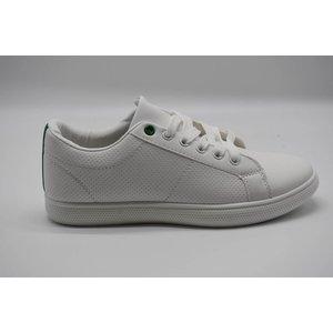 c438270dc95 Witte sneaker met groene accenten - Star Queen
