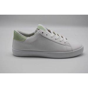 6dd3c356ed4 Witte sneaker met licht groene glitter - Star Queen