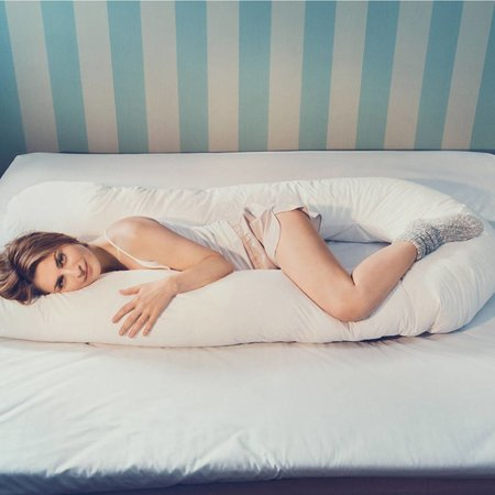 Fossflakes Fossflakes Comfort-U Bodykissen - Seitenschläferkissen - Schwangerschaftskissen inkl. Bezug